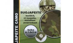 Тент укрывочный «Suojapeite», расцветка: камуфляж, 1,8 м х 3 м
