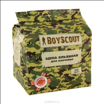 """Щепа ольховая """"Boyscout"""" для копчения, 250 г"""