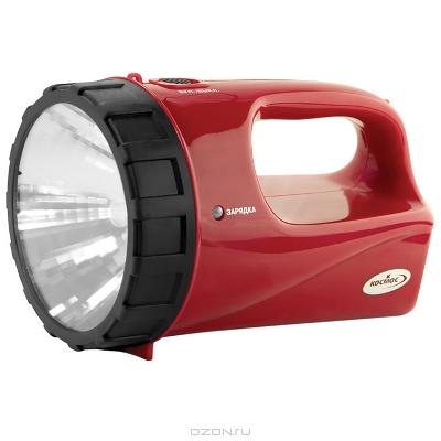 """Фонарь-прожектор аккумуляторный """"Космос"""", цвет: красный. Модель 9191"""