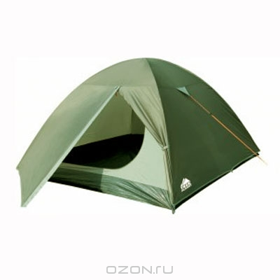 """Палатка Trek Planet """"Oregon 3"""", цвет: темно-зеленый, оливковый"""