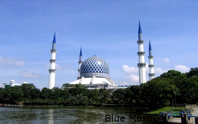 Гоубая мечеть,Шах-Алам,Малайзия
