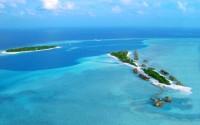 Небольшой Мальдивский остров-курорт